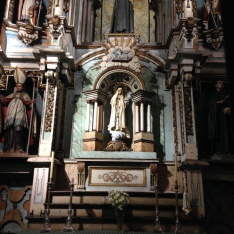 Statue of Mary, Cathedral of St. James, Santiago de Compostela, Spain